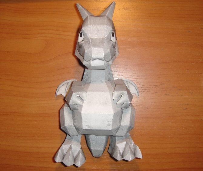 Дракон (символ 2012 года) из бумаги
