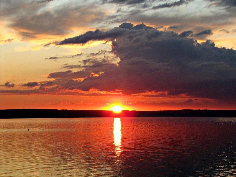 Закаты над Камой.Отражение