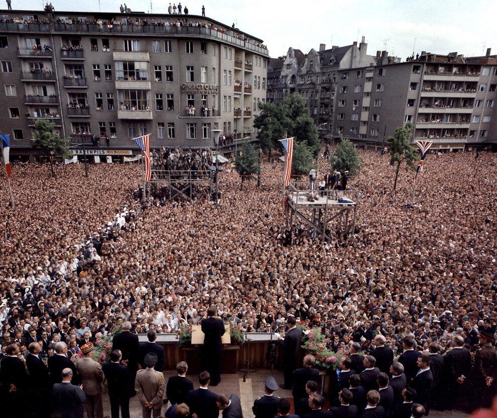 Обращение Президента Кеннеди к народу Берлина, Германия, 26 июня 1963 года