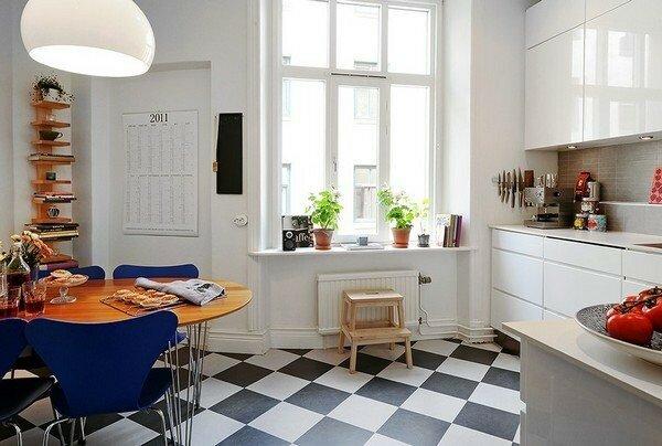 Дизайн маленькой классической кухни фото