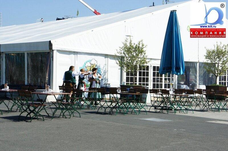 Баварская палатка CEMAT 2011 любимое место отдыха посетителей выставки
