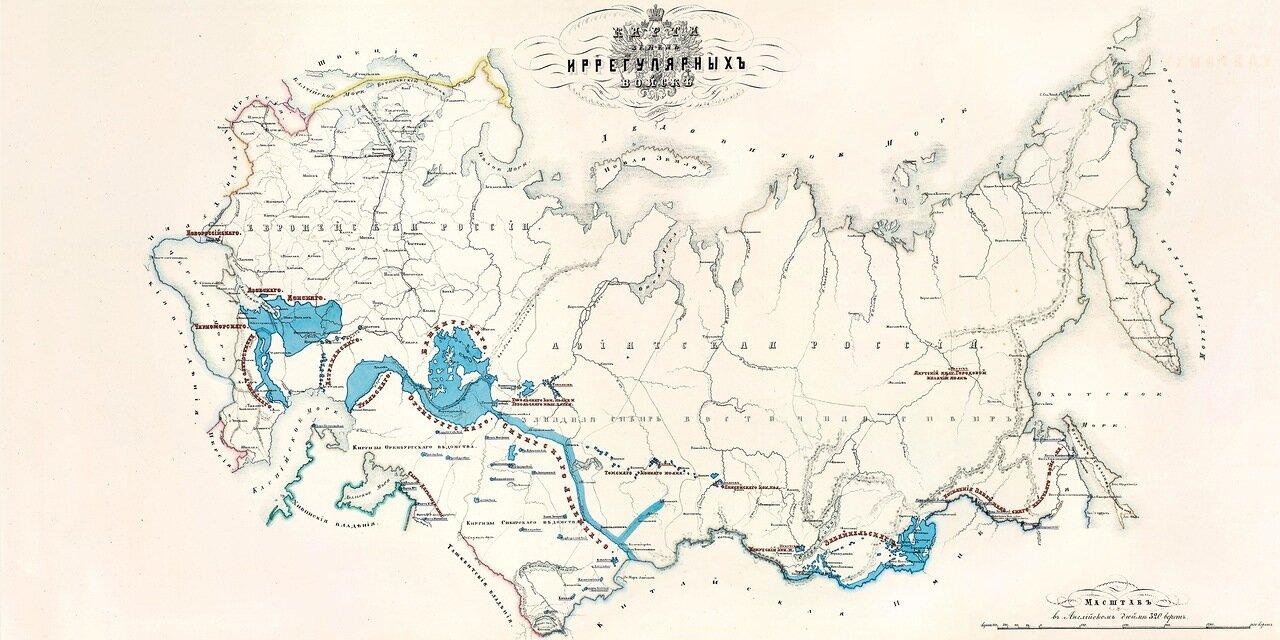 Карта земель иррегулярных войск