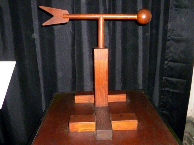 Анемоскоп -  прибор для определения направления ветра (нынешний флюгер)