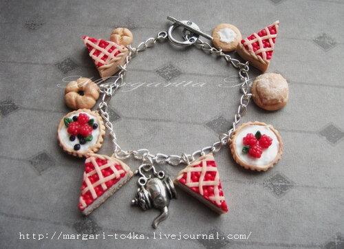 Изделия - вязаные браслеты и вкусные сережки