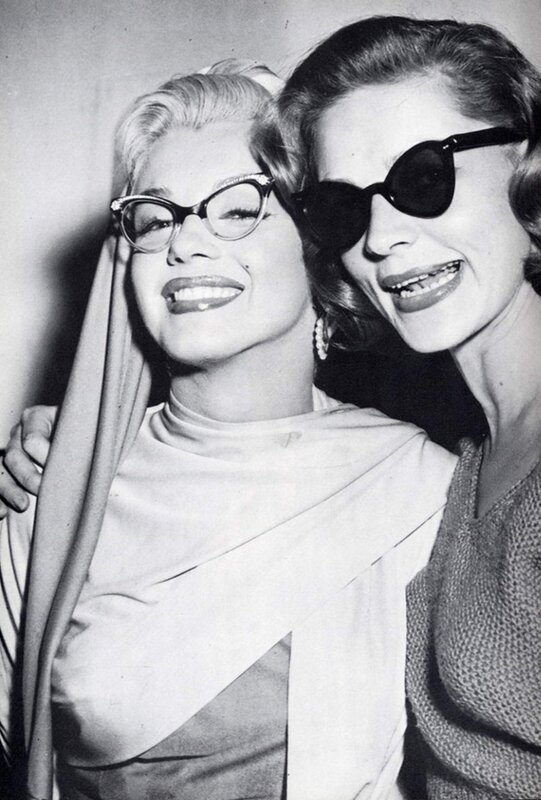 Marilyn again with Lauren Bacall