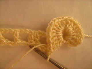 вязание крючком, мастер-класс, чешуйки