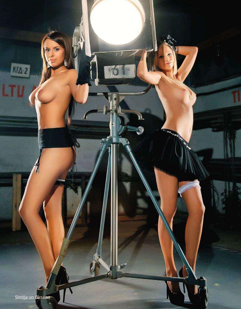 1-я годовщина журнала Playboy Латвия, октябрь 2011 - Синтия и Оксана