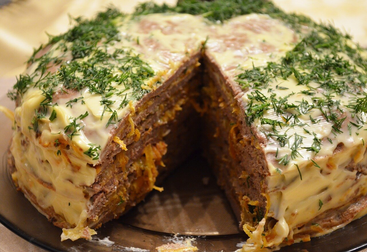 Торт из вареной печени рецепт с пошагово