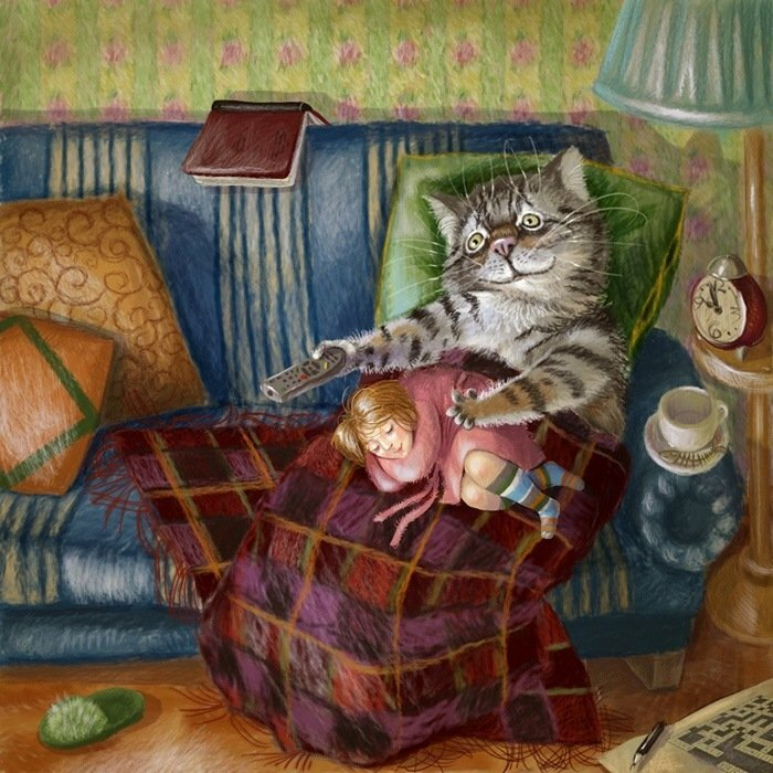 Кіт і хазяйка