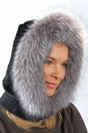 Меховые головные уборы: шапки из меха лисы, рыси, соболя...