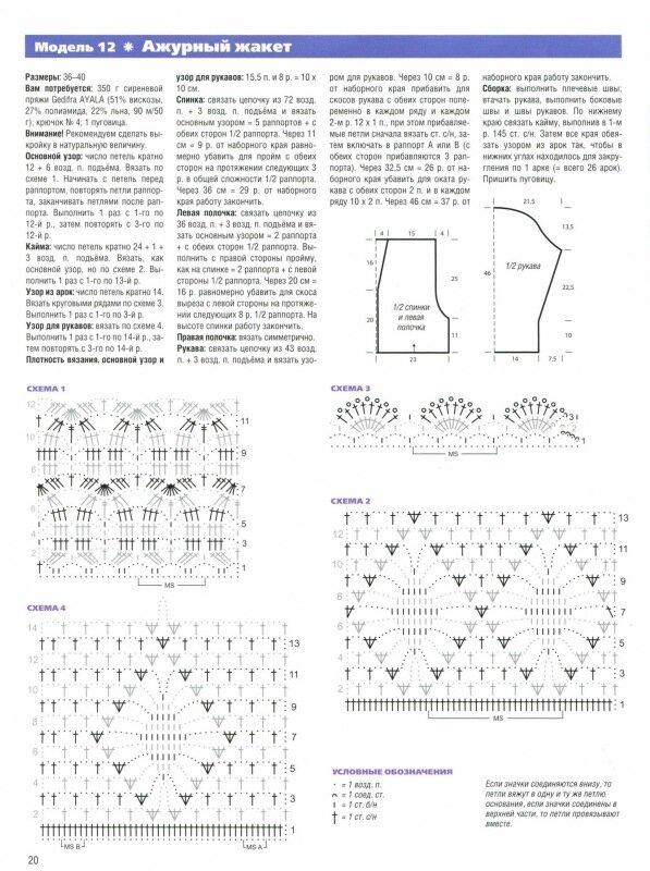 Схемы вязания кофточек крючком по кругу