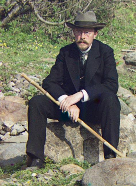 Фотография Прокудина-Горского, Автопортрет, Россия 1905-1015