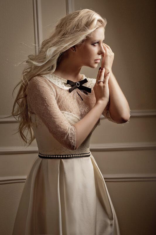 винтажное платье с пышной юбкой