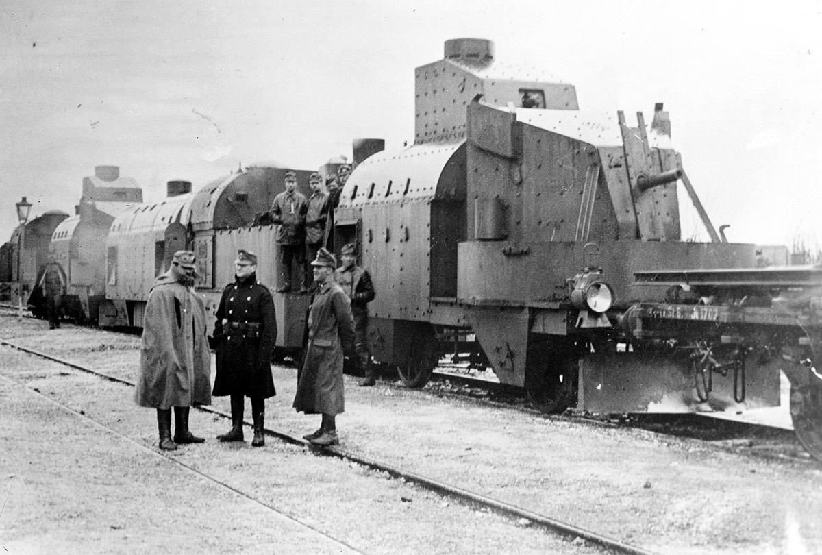Австрийский бронепоезд в Галиции (1915 год) (17)