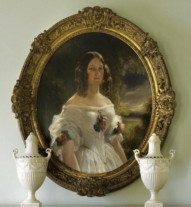 After Franz Xaver Winterhalter , German 1805-1873 portrait of the Duchess Victoria of Nemours