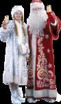 дед мороз и снегурочка клипарт