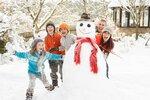 дети и снег