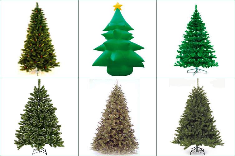 Искусственные новогодние елки для дома и улицы