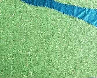 Детский развивающий коврик своими руками... проведение первой примерки