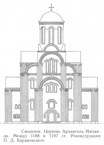 Церковь архангела Михаила в Смоленске, фасад
