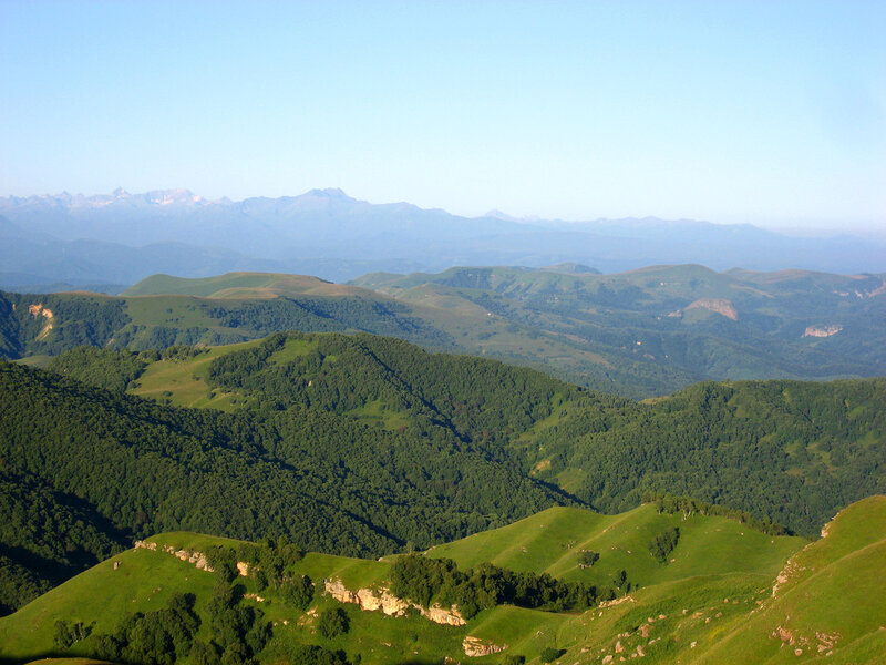 Перевал Гумбаши - смотровая площадка на гору Эльбрус - Смотровые площадки, Горы - russia, karachay-cherkessia, kavkaz