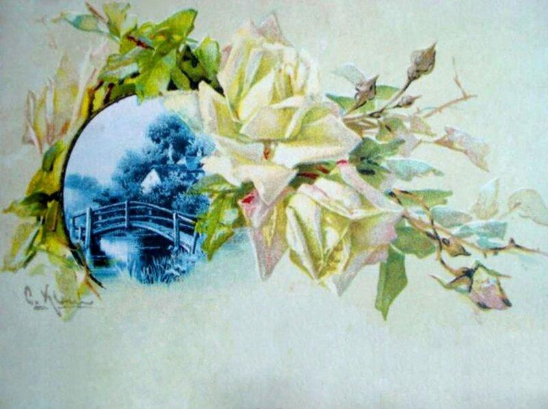 К. Кляйн. Розы и пейзаж.