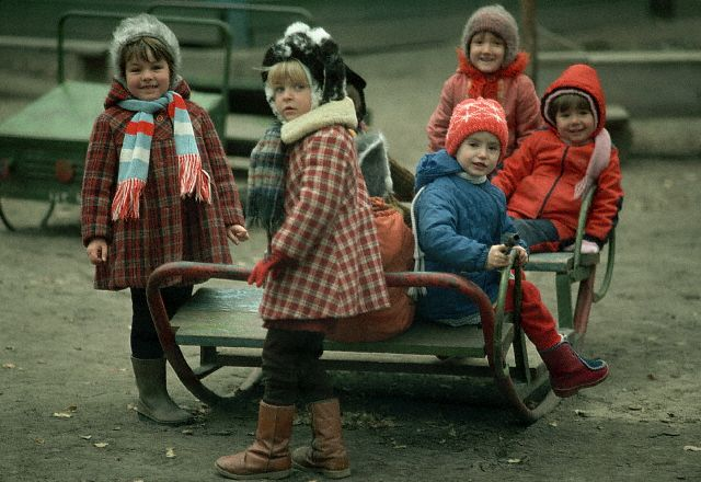 Soviet Children Playing