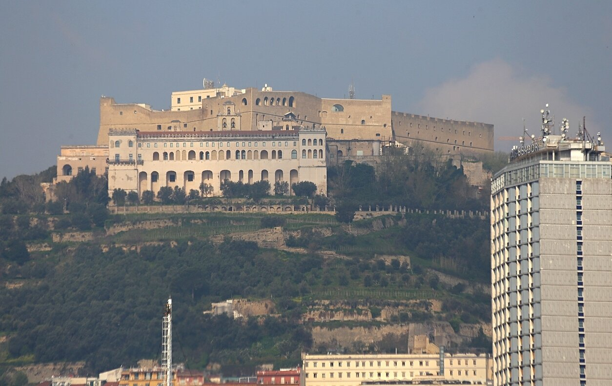 Naples. The castle of St. Elmo and Abbey of San Martino.