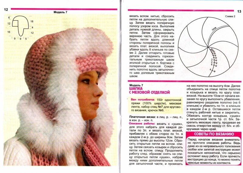 Вязаная женская зимняя шапка своими руками
