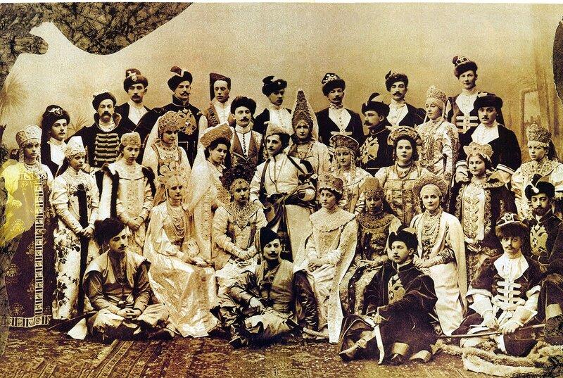 Костюмированный бал 1903 года.