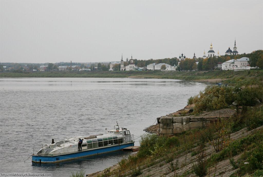 на какой реке стоит город великий устюг