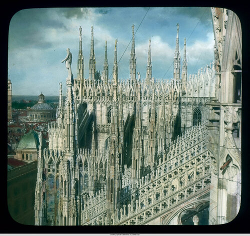 Milan. Cathedral (Duomo): roof detail, spires and buttresses