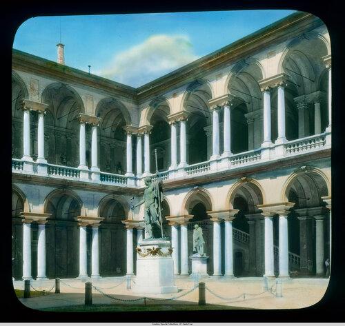 Milan. Pinacoteca di Brera in the Palazzo Brera: courtyard