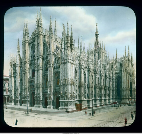 Milan. Cathedral (Duomo): view from the southwest