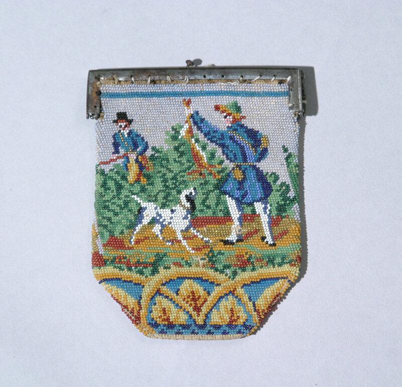 Кошелёчки из бисера.  Россия, первая половина XIX века.