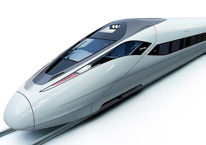 Китайский скоростной поезд Зефиро.