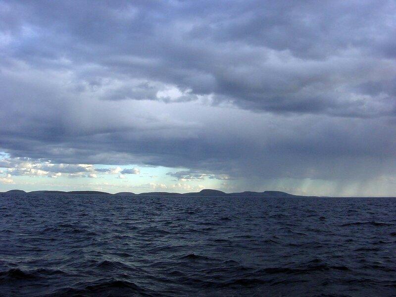 Архипелаг Кузова - вид с Белого моря