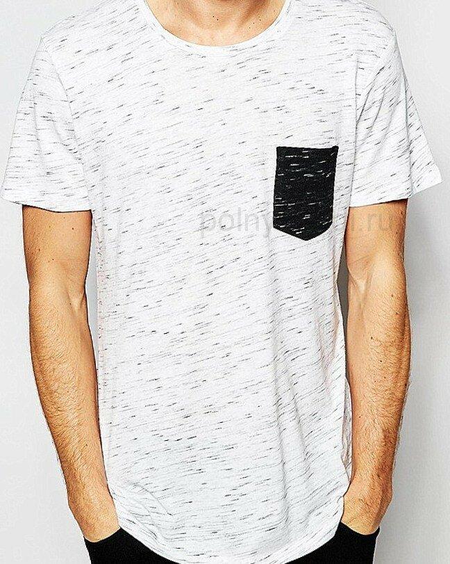 Идеи переделки Стильная мужская футболка Контрастный карман на сайте ОДЕЖДА ПОЛНЫМ Marina Danilewskaya