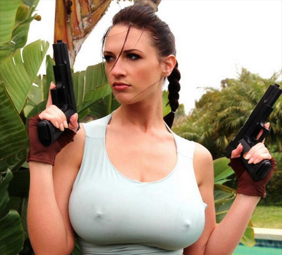 Centerfold babe Lana Kendrick freeing large all natural pornstar tits  1135535