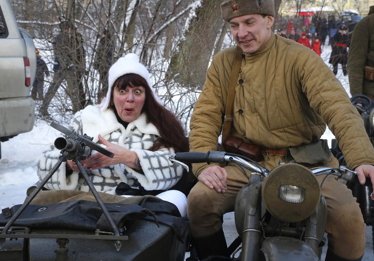 APTOPIX Russia Defenders of the Fatherland Day
