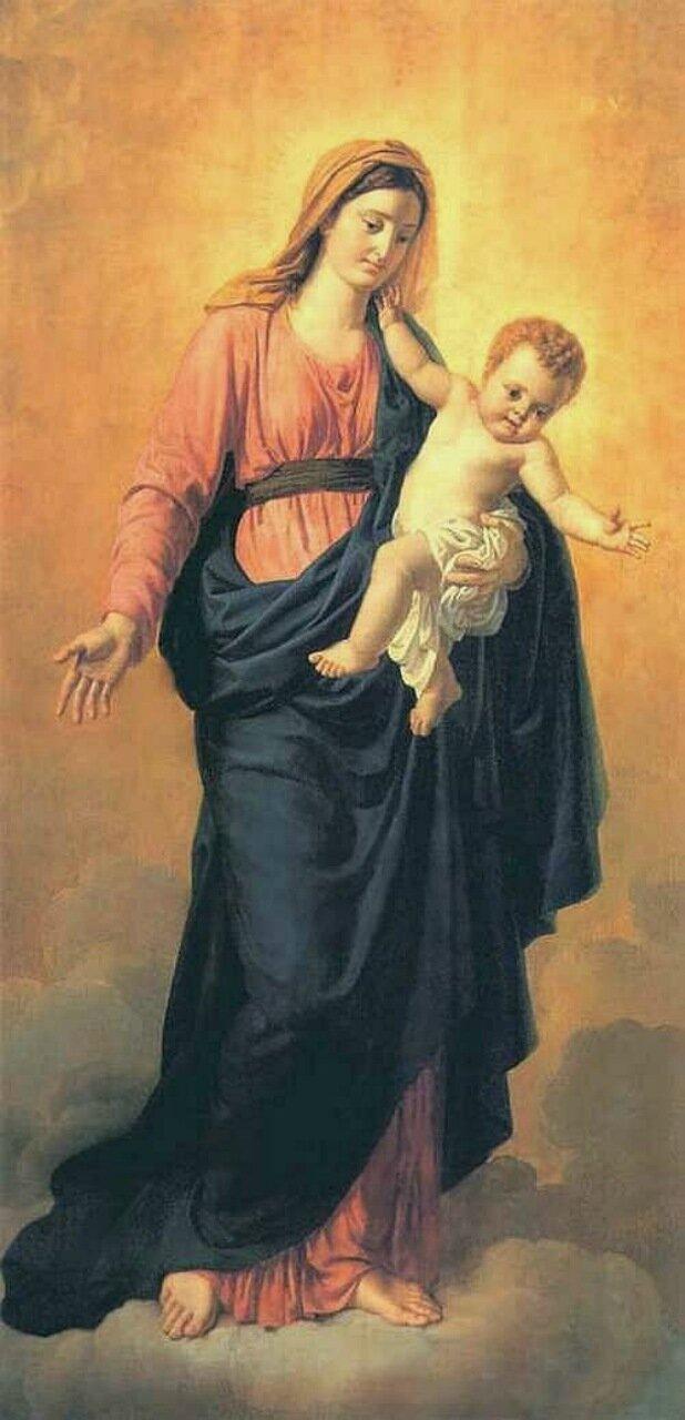 Богоматерь с младенцем. 1806-1809 Икона из северн.врат гл.иконостаса Казанского соб.в СПб. ГРМ.jpg