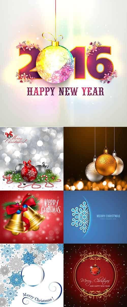 Новый год и Рождество - Векторный клипарт