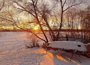 Морозный закат..
