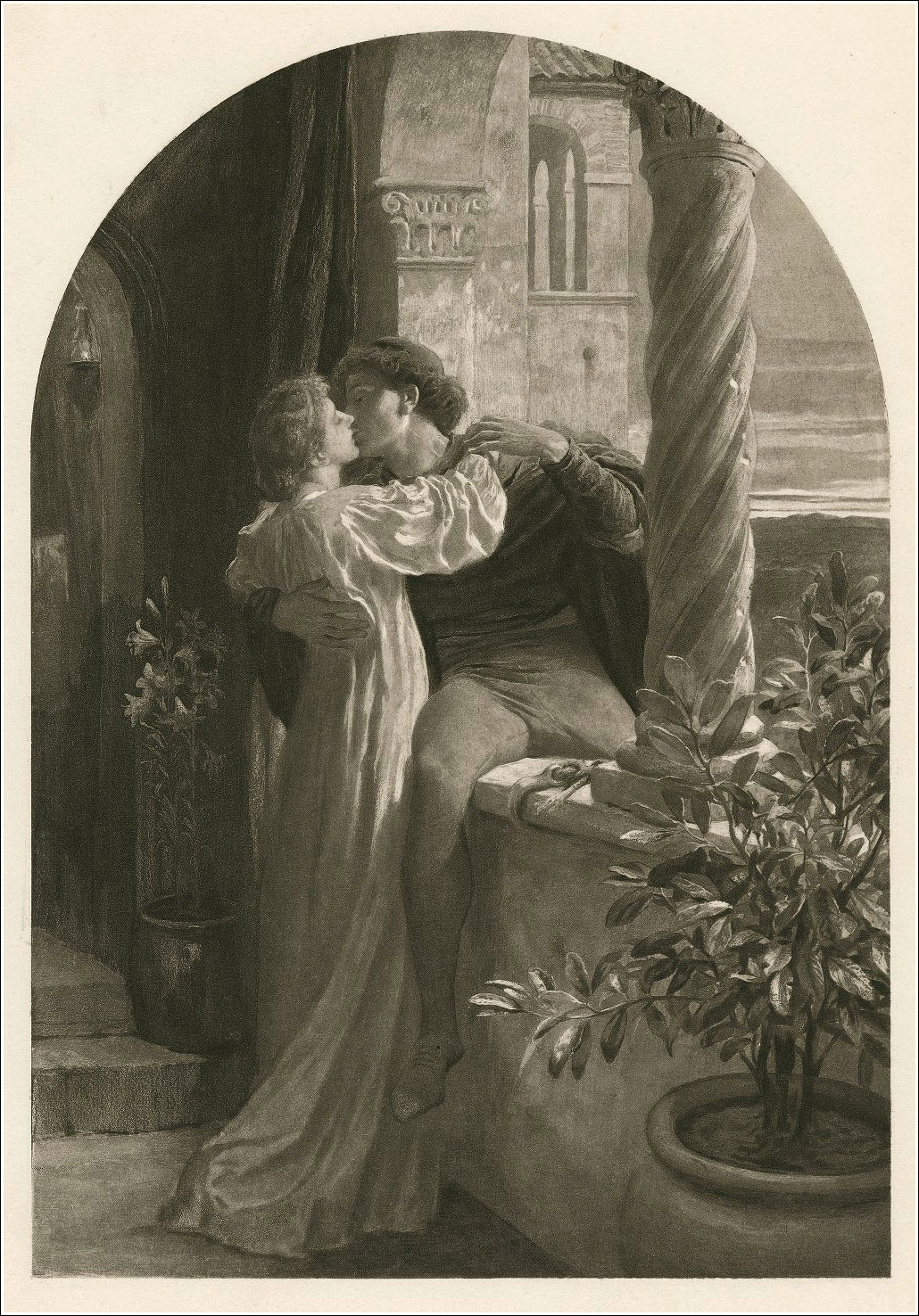 F. Dicksee, Romeo and Juliet