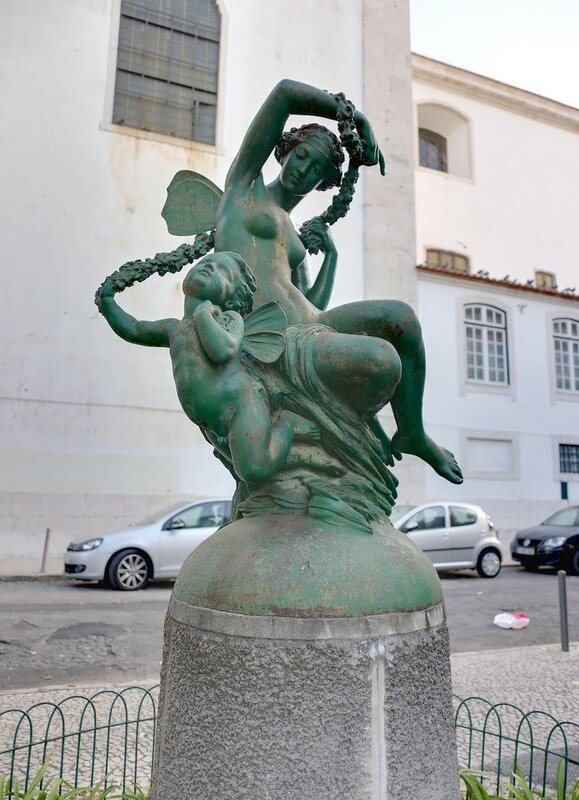 Lisbon. The Garden Of Augusto Gil (Jardim Augusto Gil)
