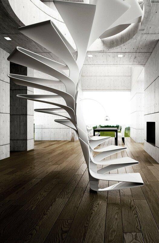 Лестница для дома на второй этаж дизайн фото 21