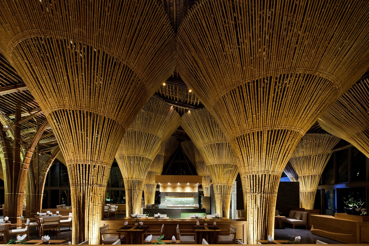 Vo Trong Nghia Architects, Naman Retreat, отели дананга вьетнам, дананг отели, лучшие отели дананга вьетнам, дизайн интерьера ресторана фото