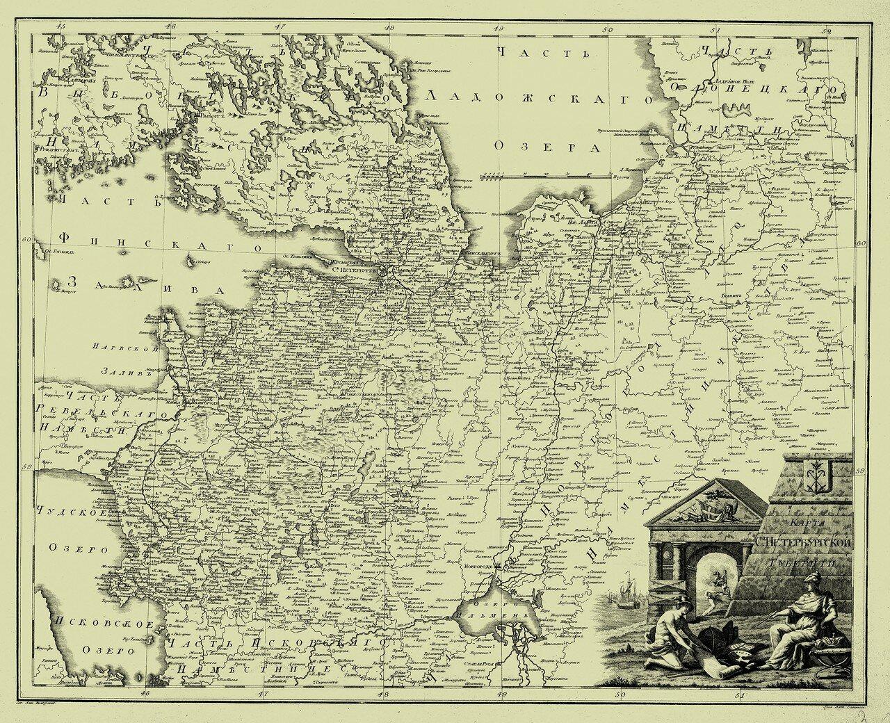 02. Карта Санкт-Петербургской губернии