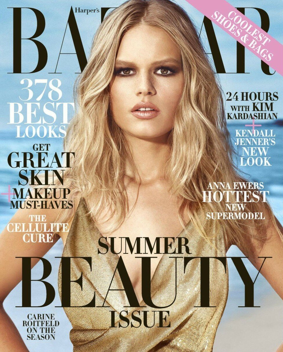 Anna Ewers - Harper's Bazaar US | May 2015 by Norman Jean Roy