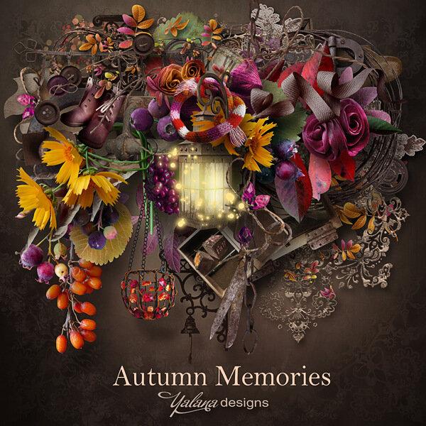 Великолепный осенний скрап-набор Осенние вопоминания